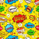 37364005 - comic speech bubbles seamless pattern vector